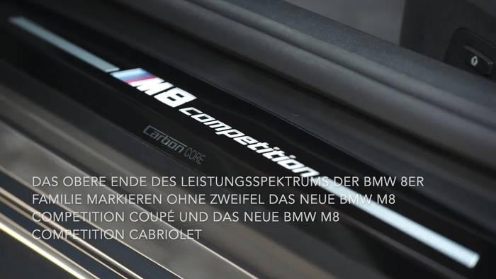 News video: Das neue BMW M8 Competition Coupé und das neue BMW M8 Competition Cabriolet