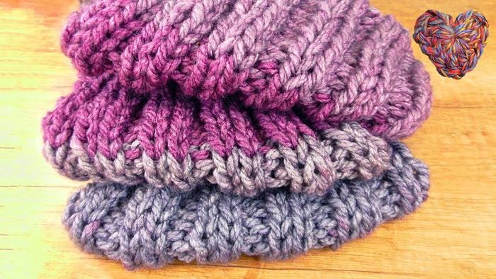 Video: Loop Schal Sticken | Super kuschligen & warmen Winter Schal selber machen | Sticken Lernen
