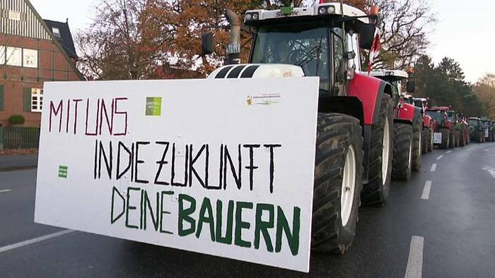 Video: 3.500 Traktoren: Landwirte demonstrieren im Konvoi in Hamburg
