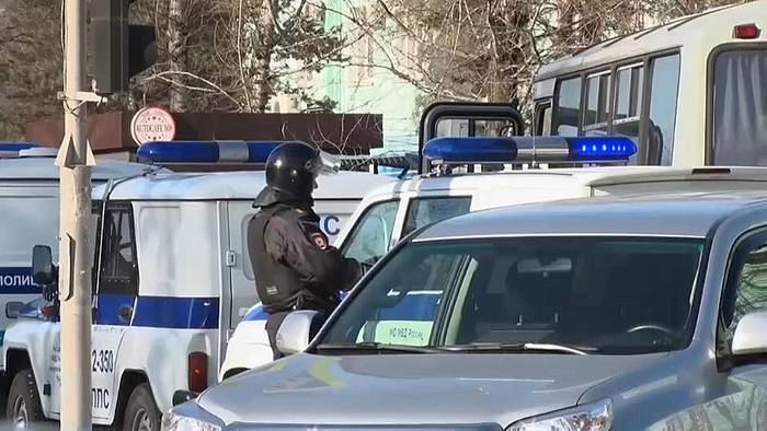 News video: Schiesserei an russischer Schule: 1 Toter, drei Verletzte