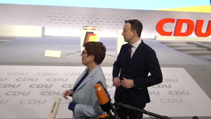 News video: CDU-Parteitag: Rede-Duell von Kramp-Karrenbauer und Merz