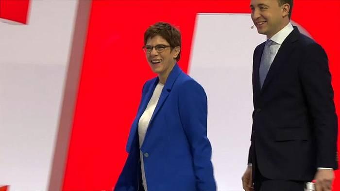 News video: CDU-Parteitag: Annegret Kramp-Karrenbauer stellt die Machtfrage