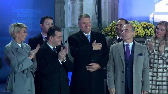 Video: Klaus Iohannis mit mehr als 63 Prozent wiedergewählt