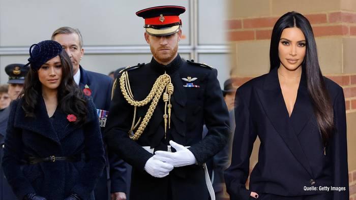 Video: Kim Kardashian macht sich für Herzogin Meghan & Prinz Harry stark