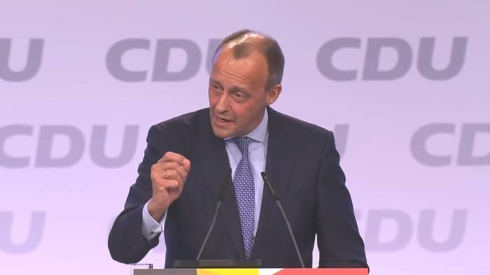 News video: Friedrich Merz kritisiert auf dem CDU-Parteitag die Klima-Aktivistin Greta Thunberg.