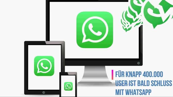 Video: Whatsapp-Hammer: App bald für Hunderttausende nicht mehr nutzbar