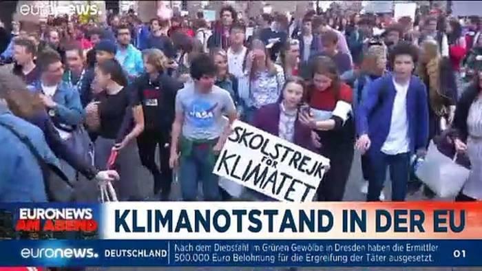 News video: Euronews am Abend vom 28.11.19: Klimanotstand, Dienstpflicht & Drogen