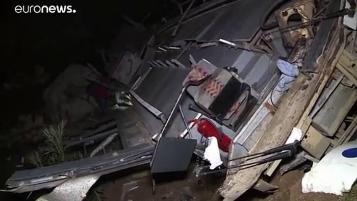 News video: 26 Tote bei Busunglück in Tunesien