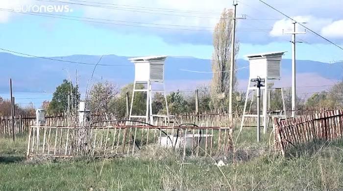 Video: Trockenheit, Regenmangel: Der Prespasee verschwindet