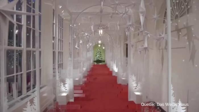 Video: Melania Trump präsentiert Weihnachtsdeko im Weißen Haus