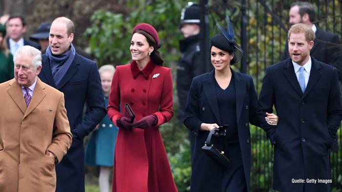 Video: Will und Kate sind erleichtert, Weihnachten ohne Harry und Meghan zu feiern