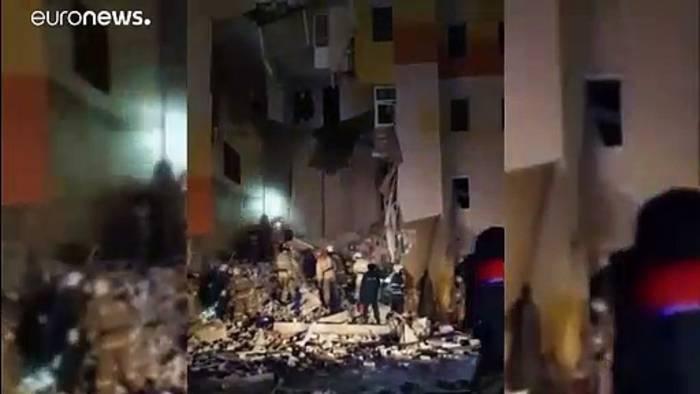 Video: Gasexplosion verursacht Teileinsturz: Ein Todesopfer und 6 Verletzte