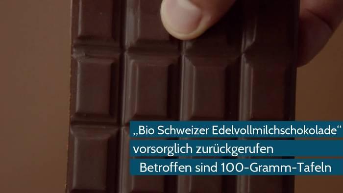 Video: Rückruf bei REWE: Bio Schweizer Edelvollmilchschokolade