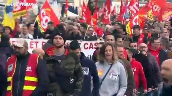 News video: Massive Proteste und Streiks in Frankreich legen öffentliches Leben lahm