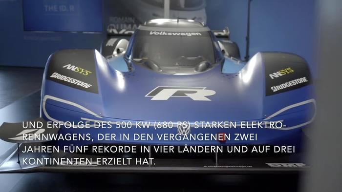 """News video: Volkswagen ID.R ist """"Elektro-Rennwagen des Jahres"""""""