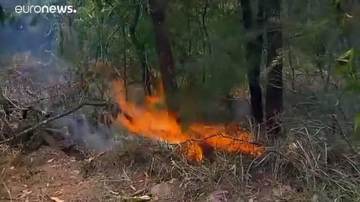 News video: Australien: 2.000 Feuerwehrleute gegen Buschfeuer. Die Aussichten: Hitzewelle, Trockengewitter