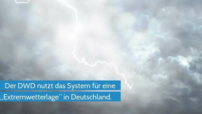 Video: DWD löst KATWARN AUS: Unwetter in Deutschland