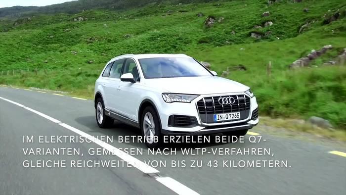 Video: Der Audi Q7 - Zwei Leistungsstufen - der Q7 60 TFSI e mit 335 kW und der Q7 55 TFSI e mit 280 kW