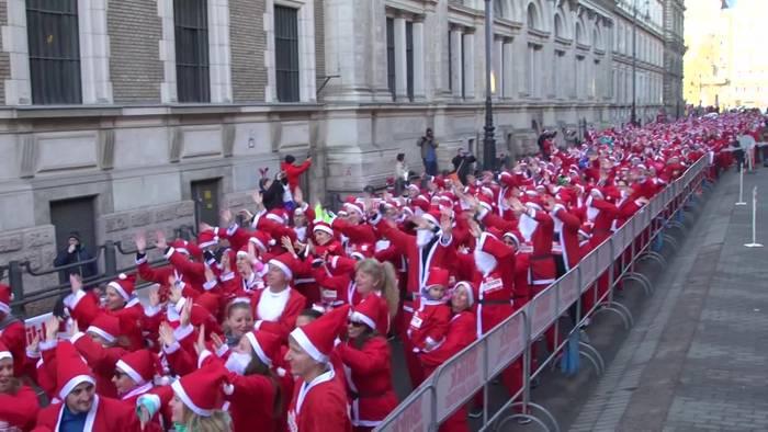 News video: Tausende Nikoläuse in Budapest!