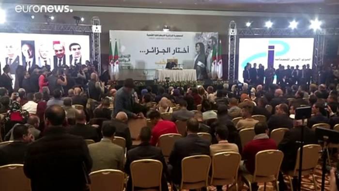 News video: Algerien: Wahlsieger geht auf Demonstranten zu