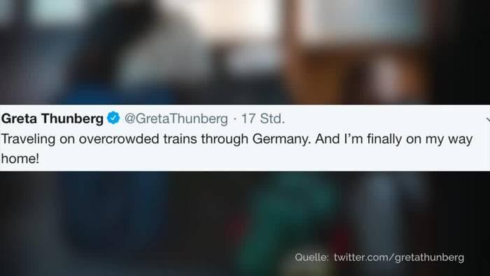 News video: Twitter-Schlacht um Greta Thunbergs Zugfahrt nach Hause