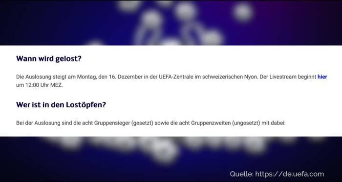 News video: Spannung in Nyon: Königsklassen-Trio drohen schwere Lose