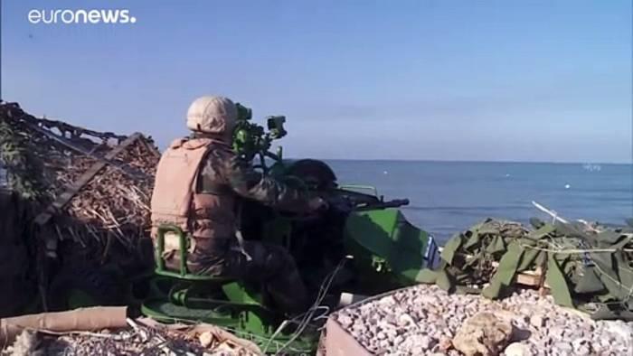 Video: Russisch-syrische Militärübung im Mittelmeer