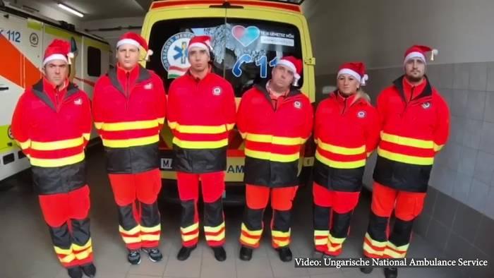 News video: Virales Video der Rettungssanitäter zu Weihnachten!