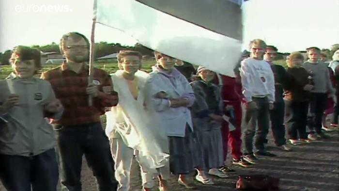 News video: 1989: Der baltische Weg
