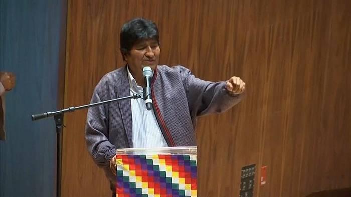 News video: Boliviens Justiz erlässt Haftbefehl gegen Morales