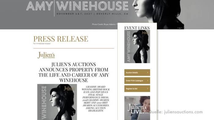 News video: Andenken an Sängerin Amy Winehouse werden versteigert