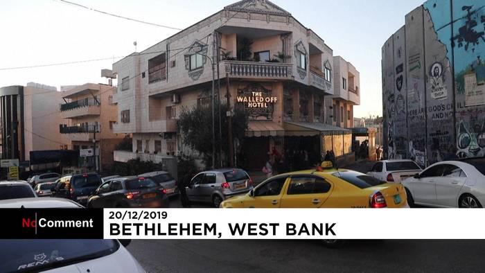 News video: Banksy in Bethlehem