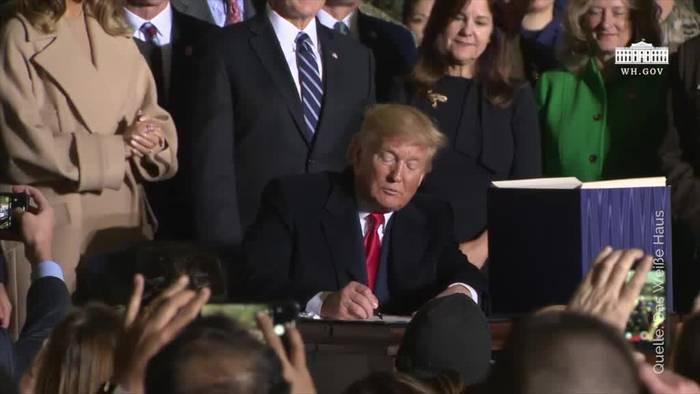 Video: Trump ruft «Space Force» als neue Teilstreitkraft ins Leben
