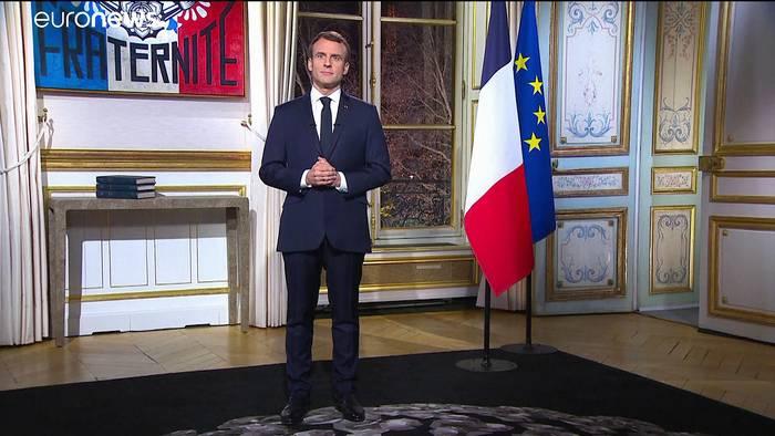 News video: Macron spricht zu wütendem Volk