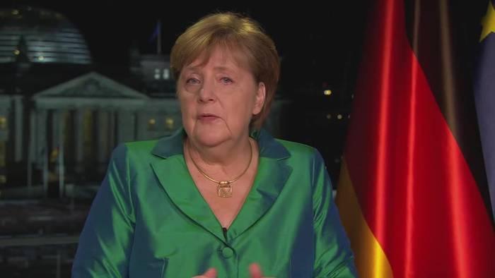 News video: Merkel ruft in Neujahrsansprache zu Zuversicht auf