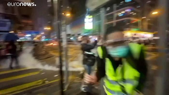 Video: Hongkong: Zwischenfälle während Silvesterfeier