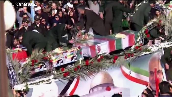 Video: Letztes Geleit für General Soleimani in 3 iranischen Städten