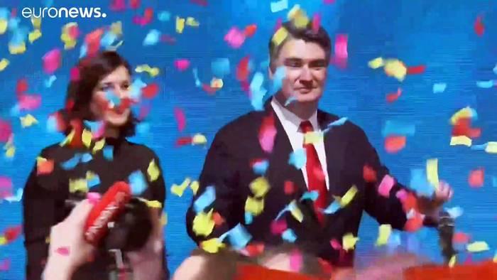 News video: Zoran Milanović wird Kroatiens neuer Präsident