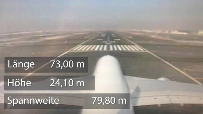 Video: Coole Aufnahmen der Heckkamera eines Airbus A-380 beim Start!