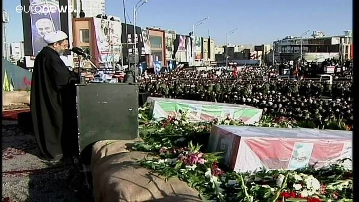 News video: Iran: General Soleimani beerdigt - 56 Tote bei Massenpanik