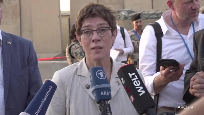News video: Deutsche Soldaten im Irak sollen teilweise verlegt werden