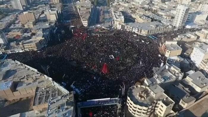 News video: 35 Tote bei Massenpanik während Trauerzeremonie