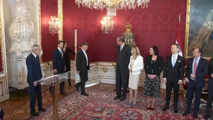 News video: Neue Regierung in Österreich nun offiziell im Amt