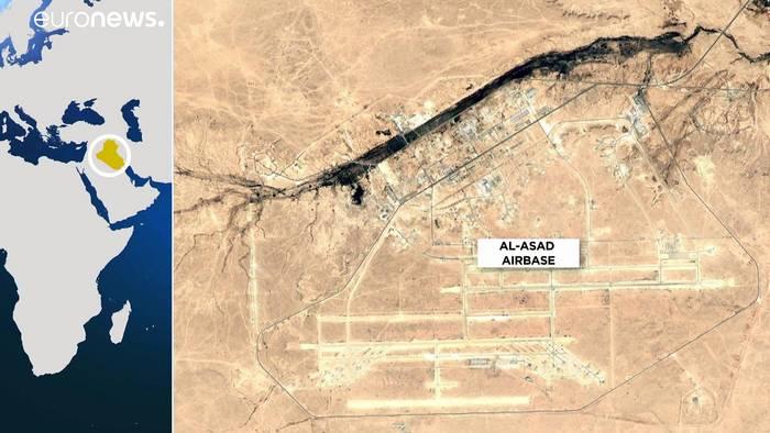 Video: Iran feuert Raketen auf US-Truppen im Irak