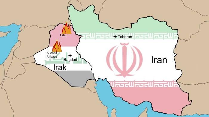 Video: Der Iranische Raktenangriff auf die USA: Die Nacht im Überblick