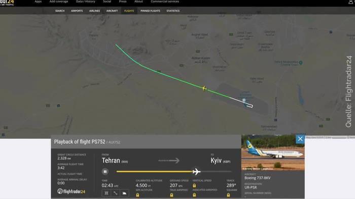 Video: Flugzeug im Iran abgestürzt - Womöglich auch Deutsche tot