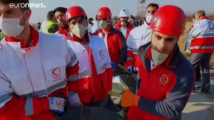 Video: Nach Flugzeugabsturz im Iran: Kanada verlangt Aufklärung