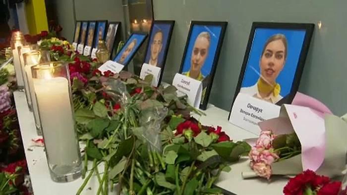 Video: Ukraine gedenkt der 176 Absturzopfer