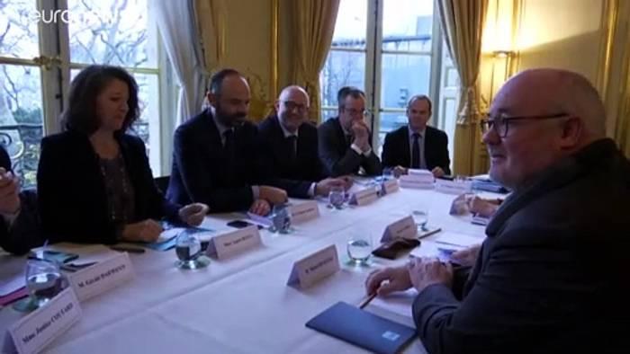 News video: Rentenstreit in Frankreich: Gespräche, aber der Knoten ist noch nicht durch