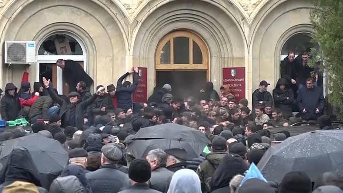 News video: Sturm auf abchasischen Präsidentenpalast